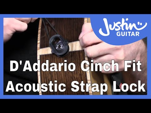 Keep Your Acoustic Guitar Safe! D'Addario Cinch Fit Strap Lock