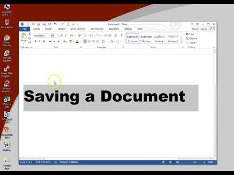 How to Save a Document in Word