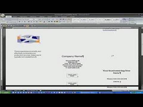 Microsoft Word : How to Make a Brochure in a Word Document