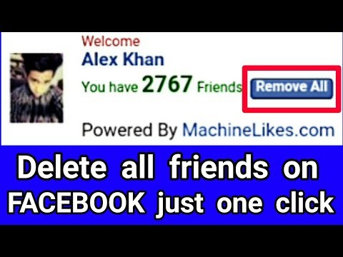 how to unfriend all friends on facebook just one click 2017 100% working trick