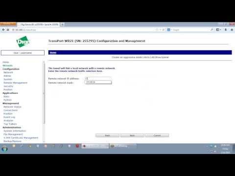 Digi TransPort Tech: Configuring a VPN