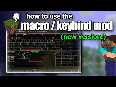 Minecraft - How to use the Macro / Keybind Mod - NEW VERSION!