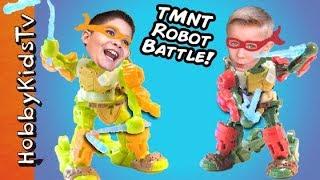 Teenage Mutant Ninja Turtles Robots with HobbyKidsTV