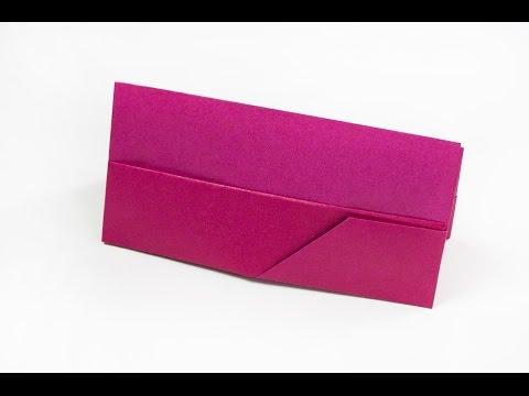 How to make a paper handbag / Origami clutch