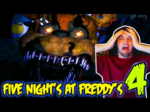 FIVE NIGHTS AT FREDDY'S 4 GAMEPLAY - FNAF 4 FREDDY SCARY JUMPSCARES & NIGHT 1-3!