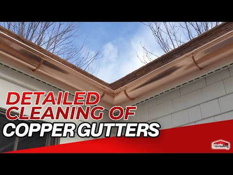 Detailed Cleaning of Copper Gutters - Istueta Roofing