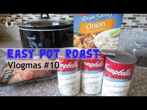 Easy Pot Roast - Vlogmas #10 Cook With Kat #6