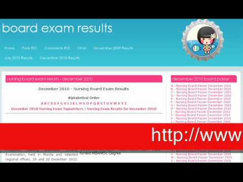 Nursing Board Exam Results December 2010