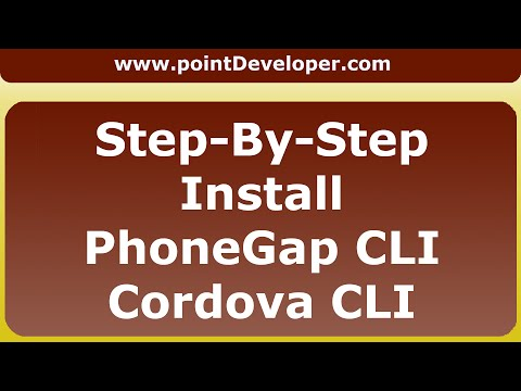 How to Install Phonegap CLI and Cordova CLI on windows for android