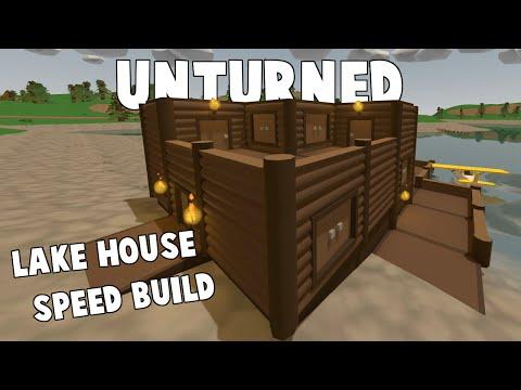 Unturned Timelapse Base Build | Epic Lakehouse