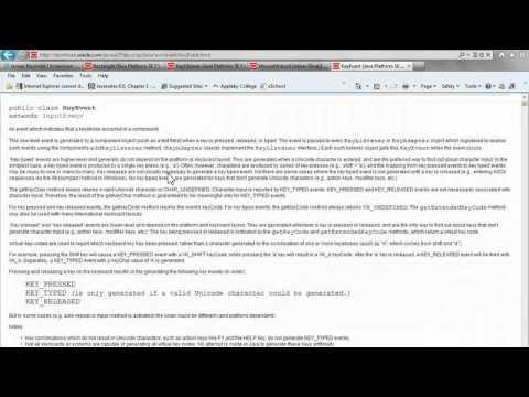 Java Applet Example Video 3/10 - JCreator IDE