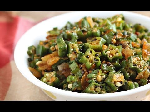how to cook okra indian style in 2 min
