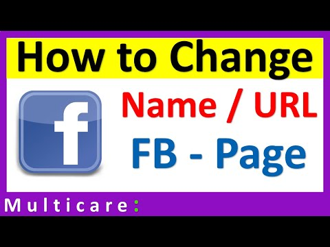 How to change Facebook page name & Url