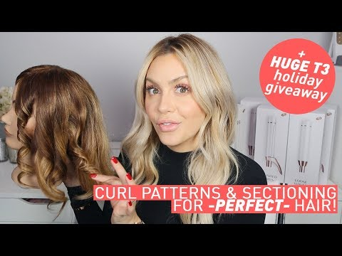 Curl Patterns & Sectioning for Perfect Hair + AMAZING T3 Giveaway