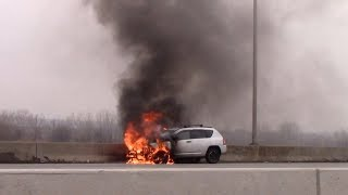 Rutherford Fire Department Car Fire And Response Videos 2-15-18