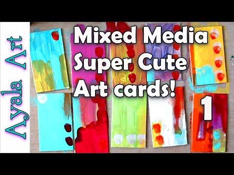 Mixed Media Art Tutorial Supplies List 2018 - Part 1
