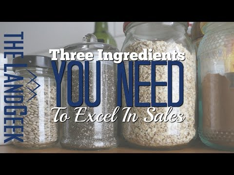 Three Ingredients You Need To Excel In Sales