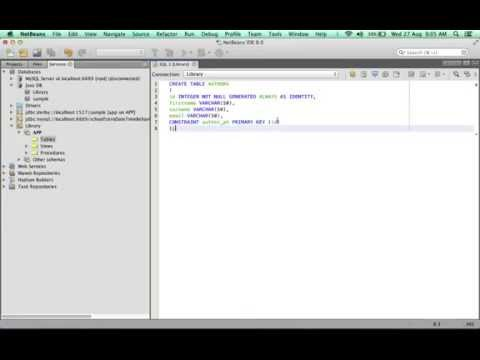 Creating a basic Database SWING App with NetBeans 1 of 6