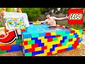 PUTTING 500 BATH BOMBS IN A LEGO POOL