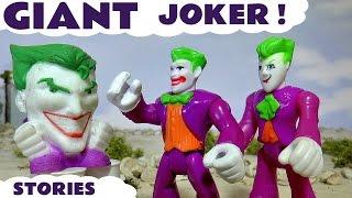 Giant Joker vs Superheroes Batman & Superman with Thomas and Friends Family Fun Toys