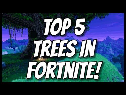 TOP 5 TREES IN FORTNITE BATTLE ROYALE!! (not clickbait)