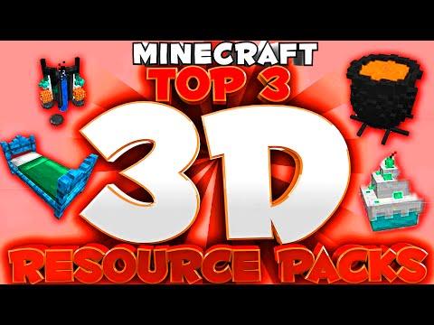 Minecraft Top 3 3D Resource packs 1.8.X / 1.9