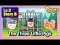 Lv2 The Three Little Pigs Lets Build A Cookie House Bed Time Story For Kids Fairy Tales