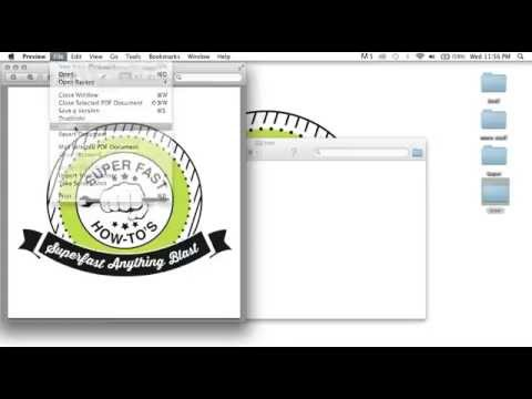 How to convert a PDF to a JPEG using mac