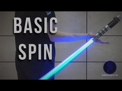Basic-Spin - Single Lightsaber Trick