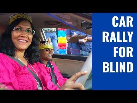 Car rally for the blind in Mumbai | Round Table India | Mumbai Live