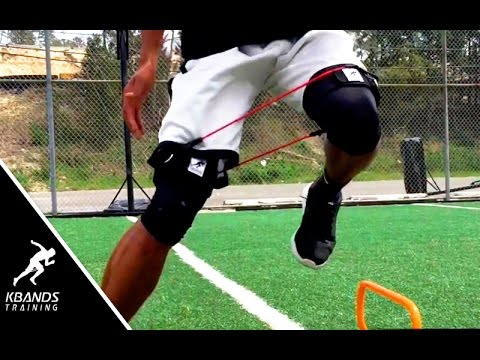 Improve Balance And Speed On One Leg | Hurdle Basic Drills With Resistance Bands