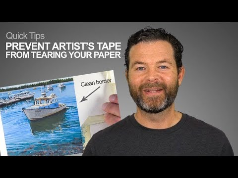 How To Prevent Tape From Tearing Your Art or Paper