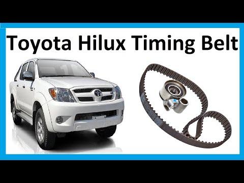 How to change the timing belt on Toyota Hilux Mk6 / Vigo 3.0L D4D
