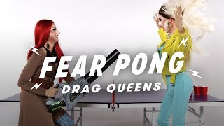 Drag Queens Play Fear Pong (Lucy Paradisco vs. Stacey Starstruck)   Fear Pong   Cut