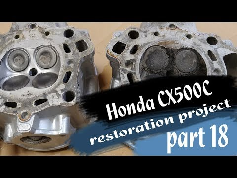 Honda CX500C restoration part 18 - cleaning valves and combustion chamber from carbon deposits