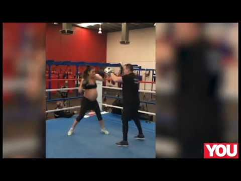 Boxing mum-to-be still in the ring at nine months pregnant