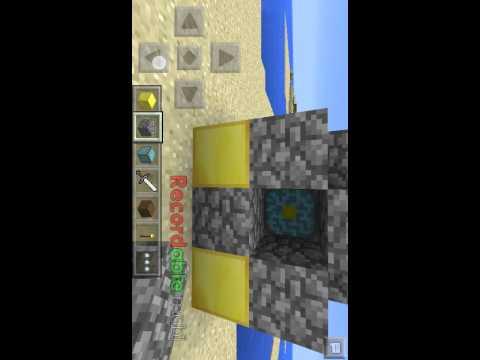 como hacer un portal en minecraft pe 0.11.1