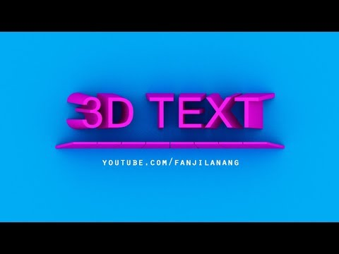 Simple 3D TEXT with NEW PHOTOSHOP CC 2018
