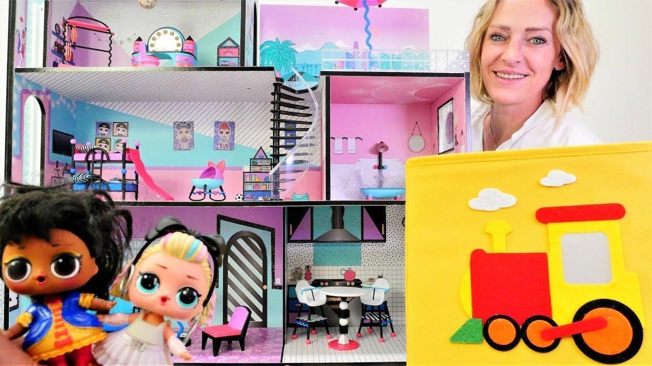 Spielzeugvideo für Kinder - Nicole und ihre LOL Puppen - 4 Folgen am Stück