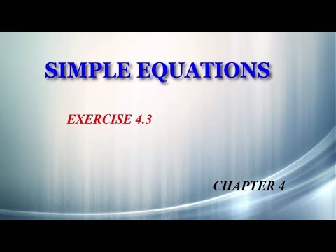 Simple Equations 4.3