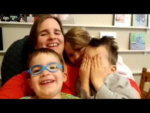 Mommy singing to Lisa, Shane and Blake