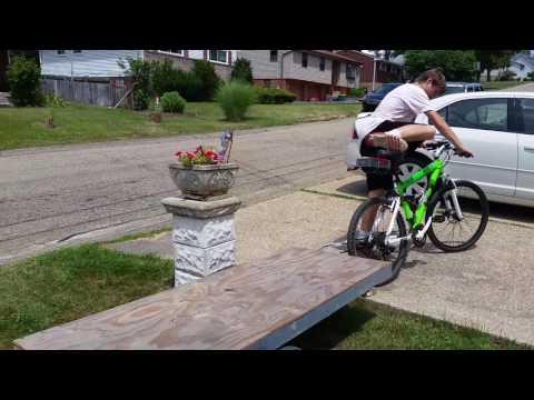 DIY bike trailer suspension