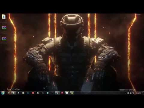 [ Tutorial ] How to Set Live Wallpaper in Windows 7 (Black Ops 3 Live wallpaper) 2015 HD
