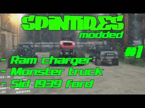 SpinTires Modded - Sid 1939 Ford, Sid 91 Ramcharger, Monster Truck - Fun In The Dirt