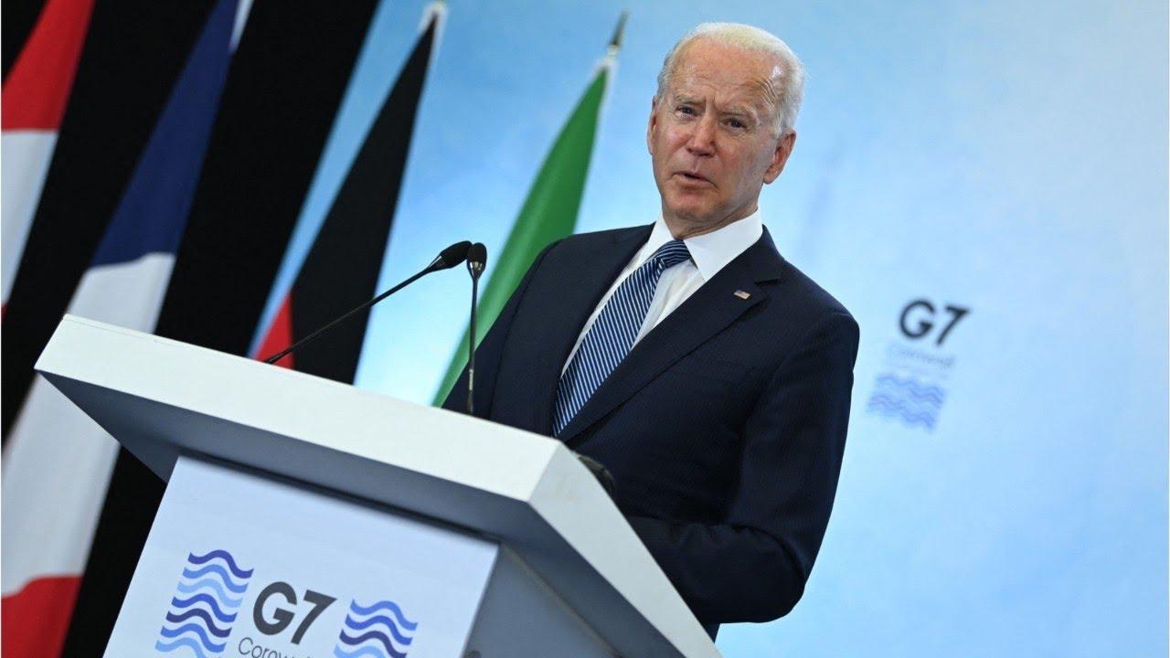 Bumbling Biden: Biden stumbles during final G7 press conference