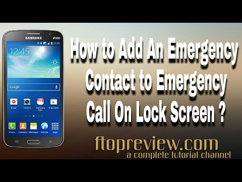 How to add  contacts to emergency Dial pad from Samsung Mobile