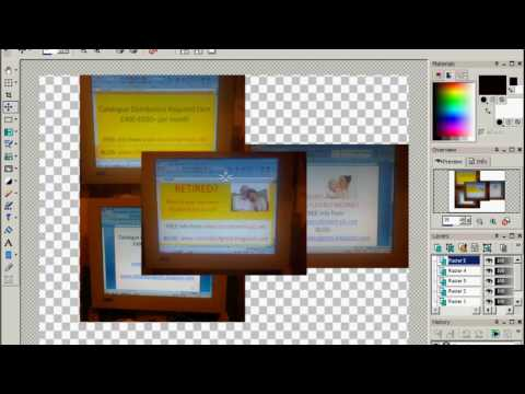 How To Put Multiple Photos Into One also Resize using Paint Shop Pro PSP
