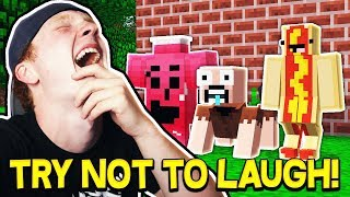 CRAZY TRY NOT TO LAUGH MINECRAFT CHALLENGE!