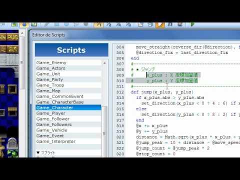RGSS3 #06 - O primeiro script! (alias e case)
