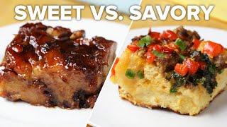 Breakfast Bake 2 Ways: Sweet Vs. Savory • Tasty